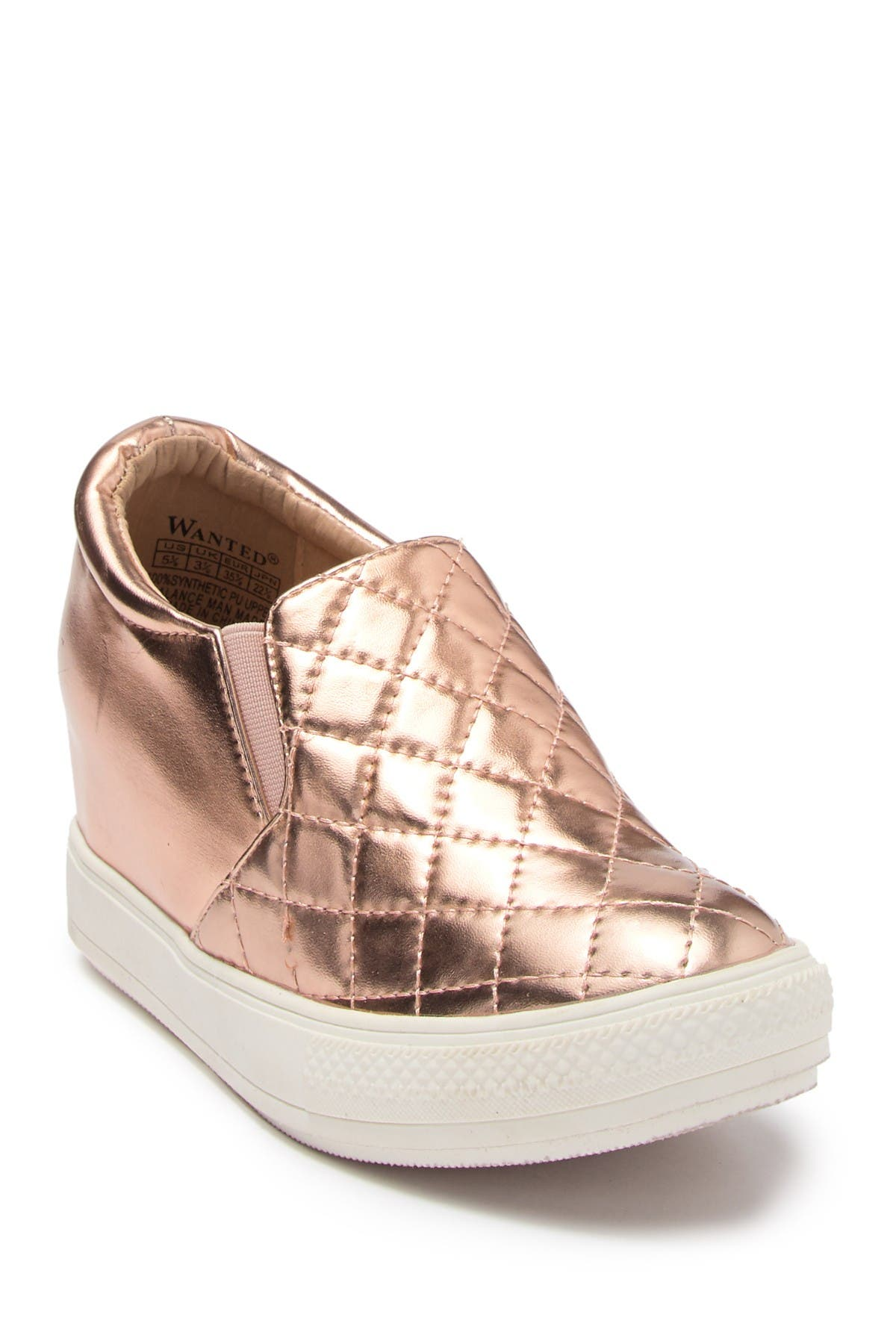 Wanted | Quilted Hidden Wedge Sneaker