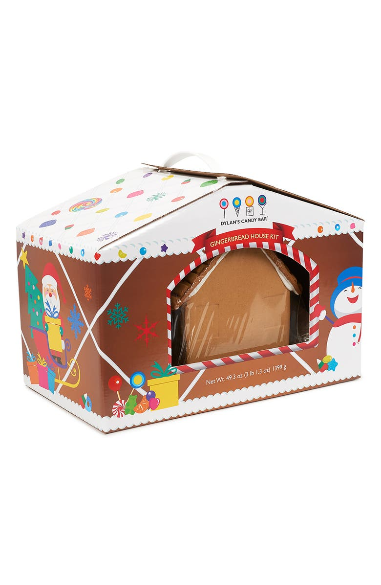 DYLAN'S CANDY BAR Holiday 2019 Preassembled Gingerbread House Kit, Main, color, BROWN