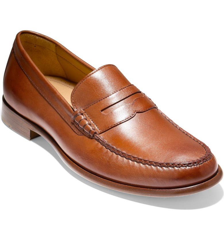 COLE HAAN Pinch Penny Loafer, Main, color, BRITISH TAN LEATHER