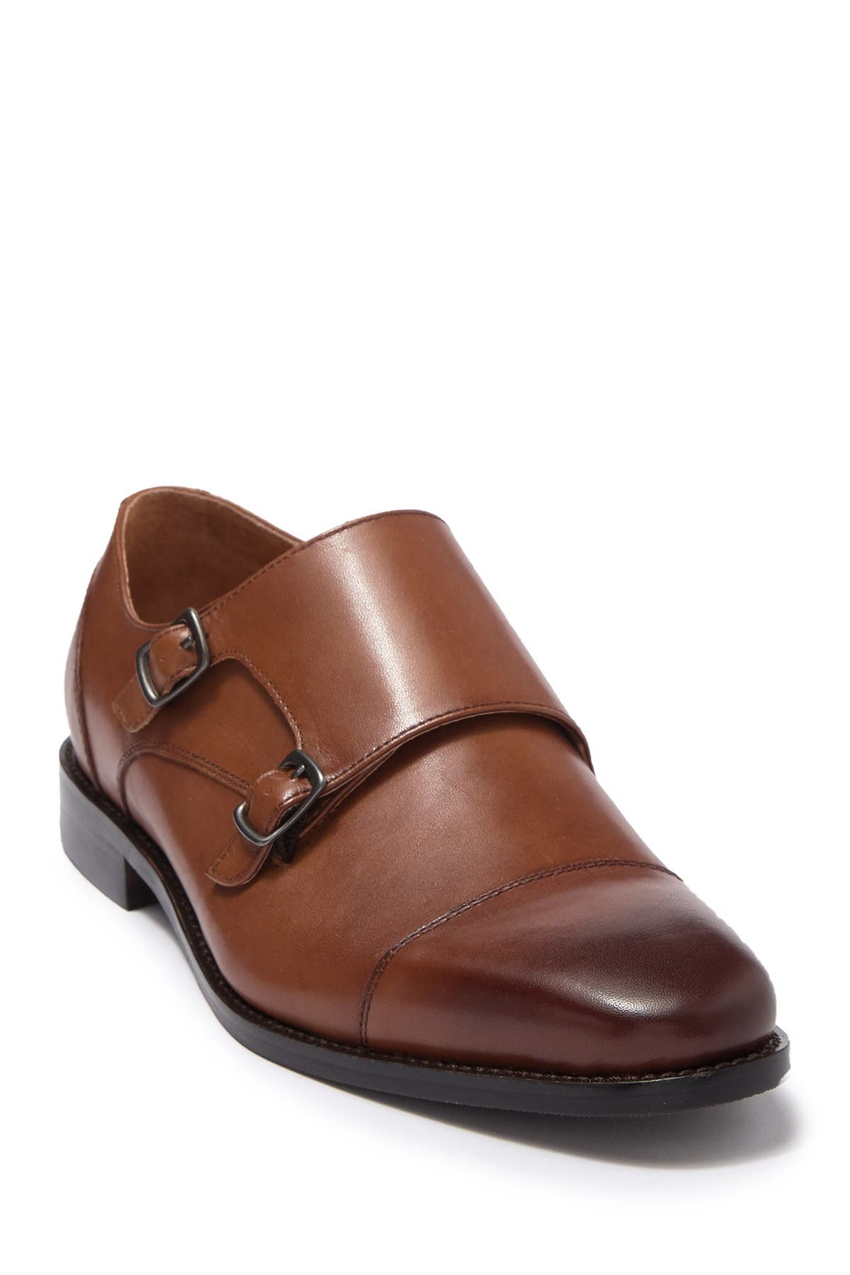 Image of Warfield & Grand Morgan Leather Double Monk Strap Derby