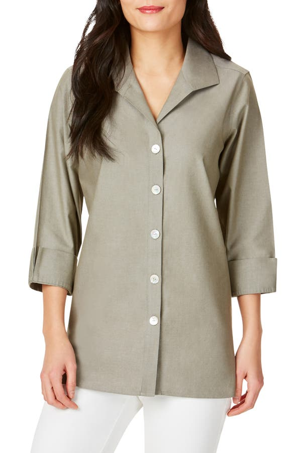 Foxcroft T-shirts PANDORA NON-IRON COTTON SHIRT