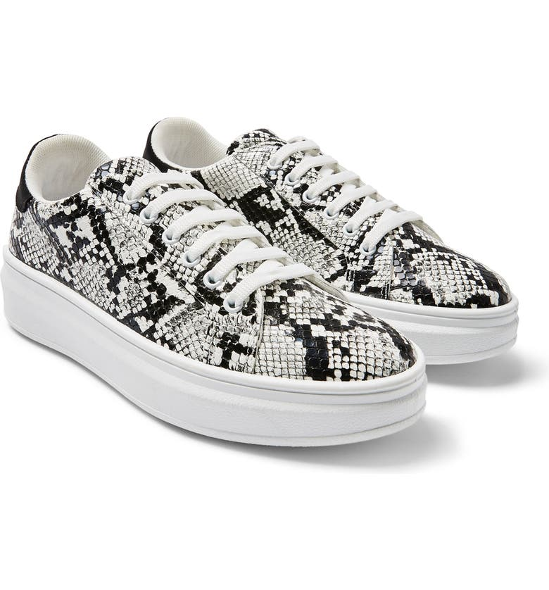 TOPSHOP Cuba Platform Sneaker, Main, color, BLACK MULTI