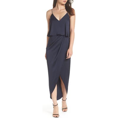 Shona Joy Luxe Frill Tulip Hem Maxi Dress, Blue