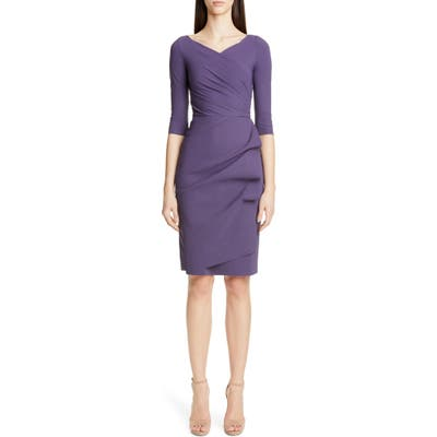 Chiara Boni La Petite Robe Florien Ruched Cocktail Dress, US / 42 IT - Purple