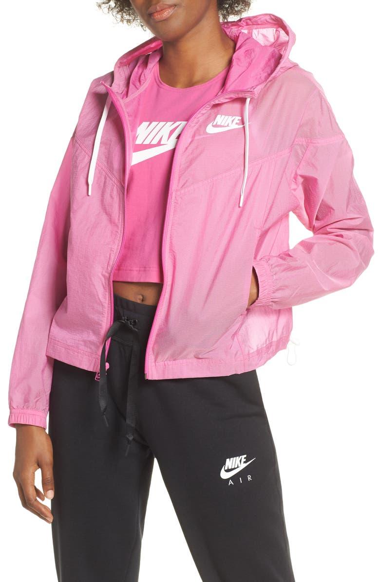 NIKE Sportswear Windrunner Jacket, Main, color, ACTIVE FUCHSIA/ SUMMIT WHITE