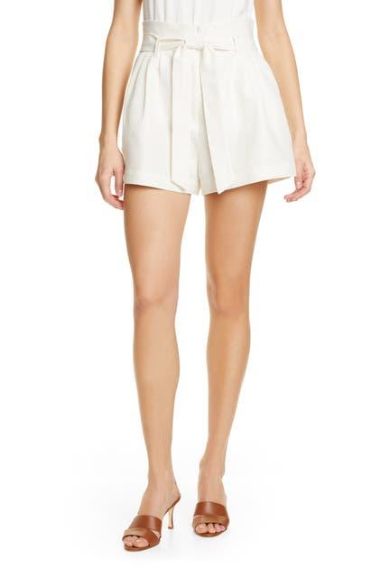 Frame Shorts BELTED LINEN & COTTON SHORTS