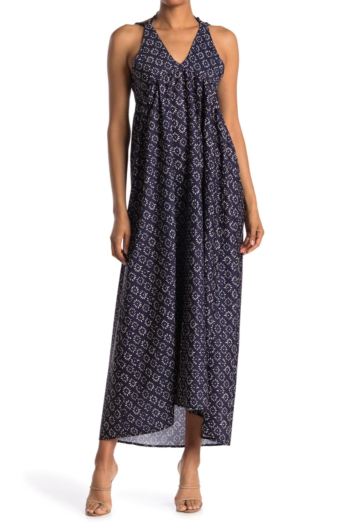 Image of STITCHDROP Printed Back Tie Maxi Dress
