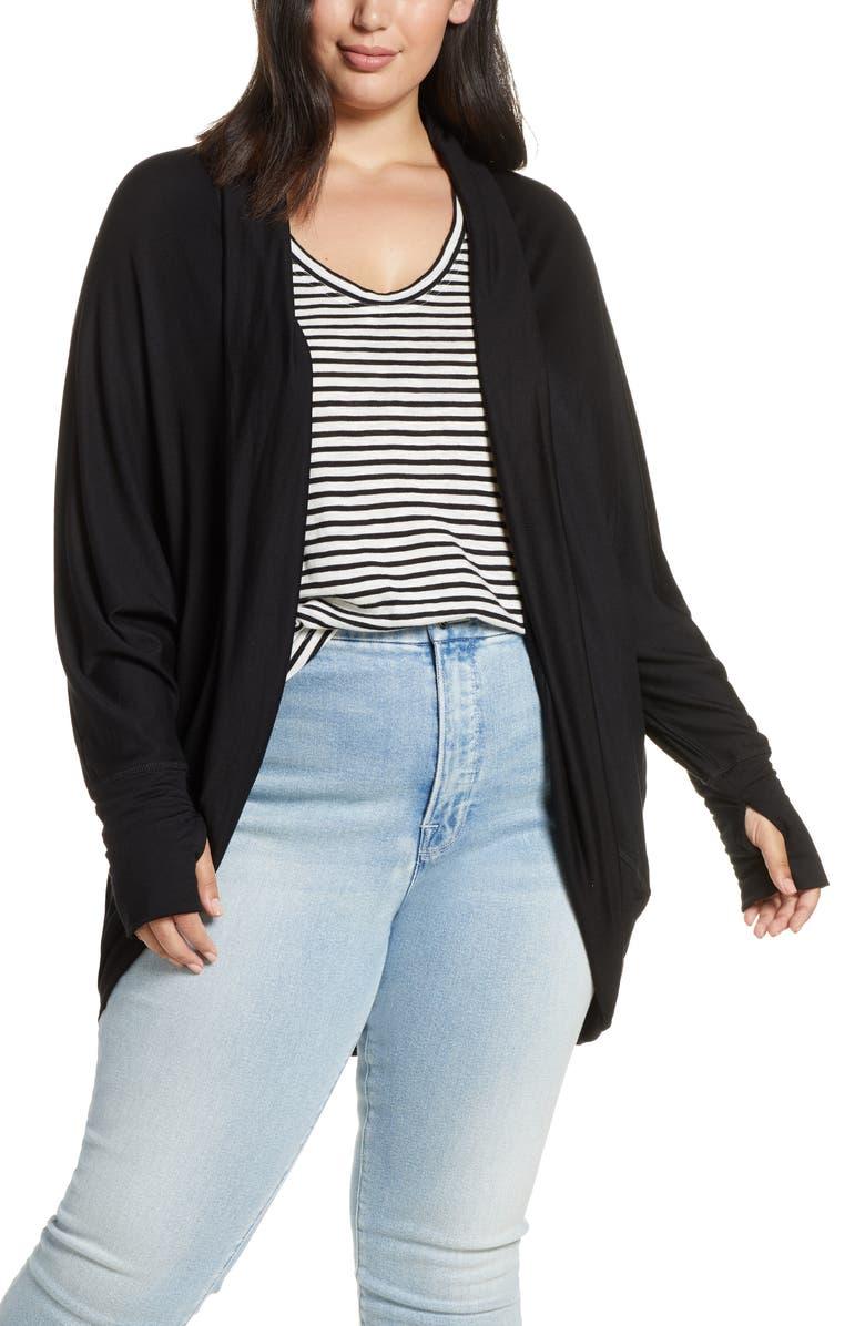 CASLON<SUP>®</SUP> Off Duty Knit Cardigan, Main, color, BLACK