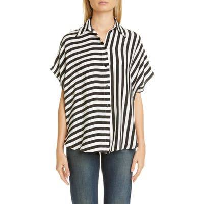 Stella Mccartney Stripe Silk Shirt, US - Black
