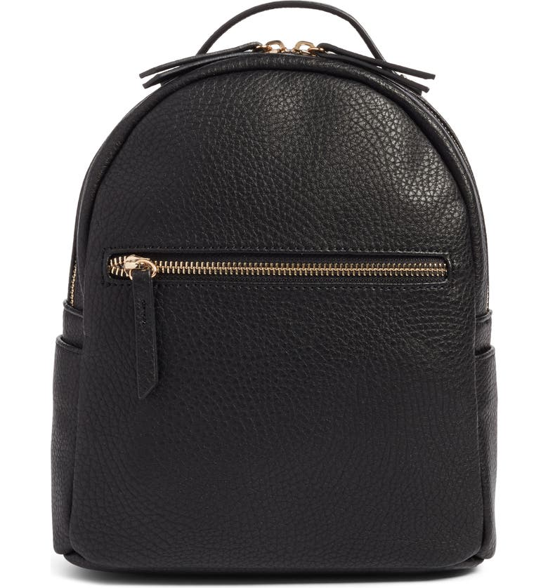 MALI + LILI Vegan Leather Backpack, Main, color, 001