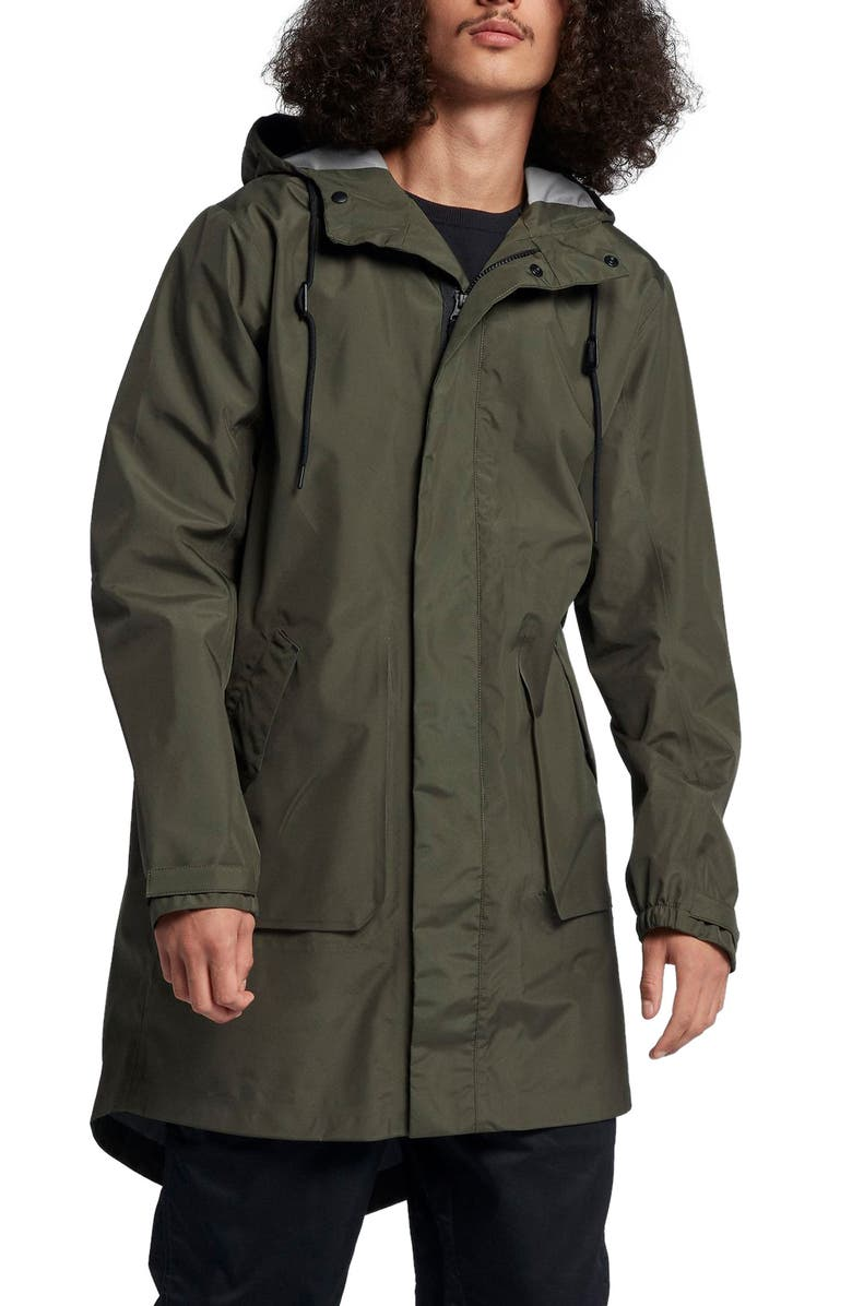 NIKE NikeLab Men's Parka, Main, color, CARGO KHAKI/ BLACK