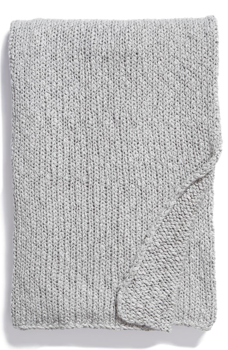 TREASURE & BOND Slub Knit Cotton Throw Blanket, Main, color, 040