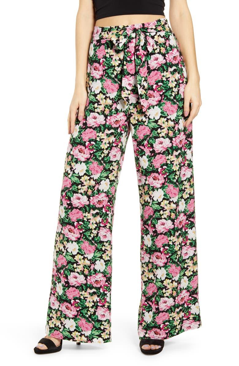 WAYF Layne Wide Leg Pants, Main, color, 001