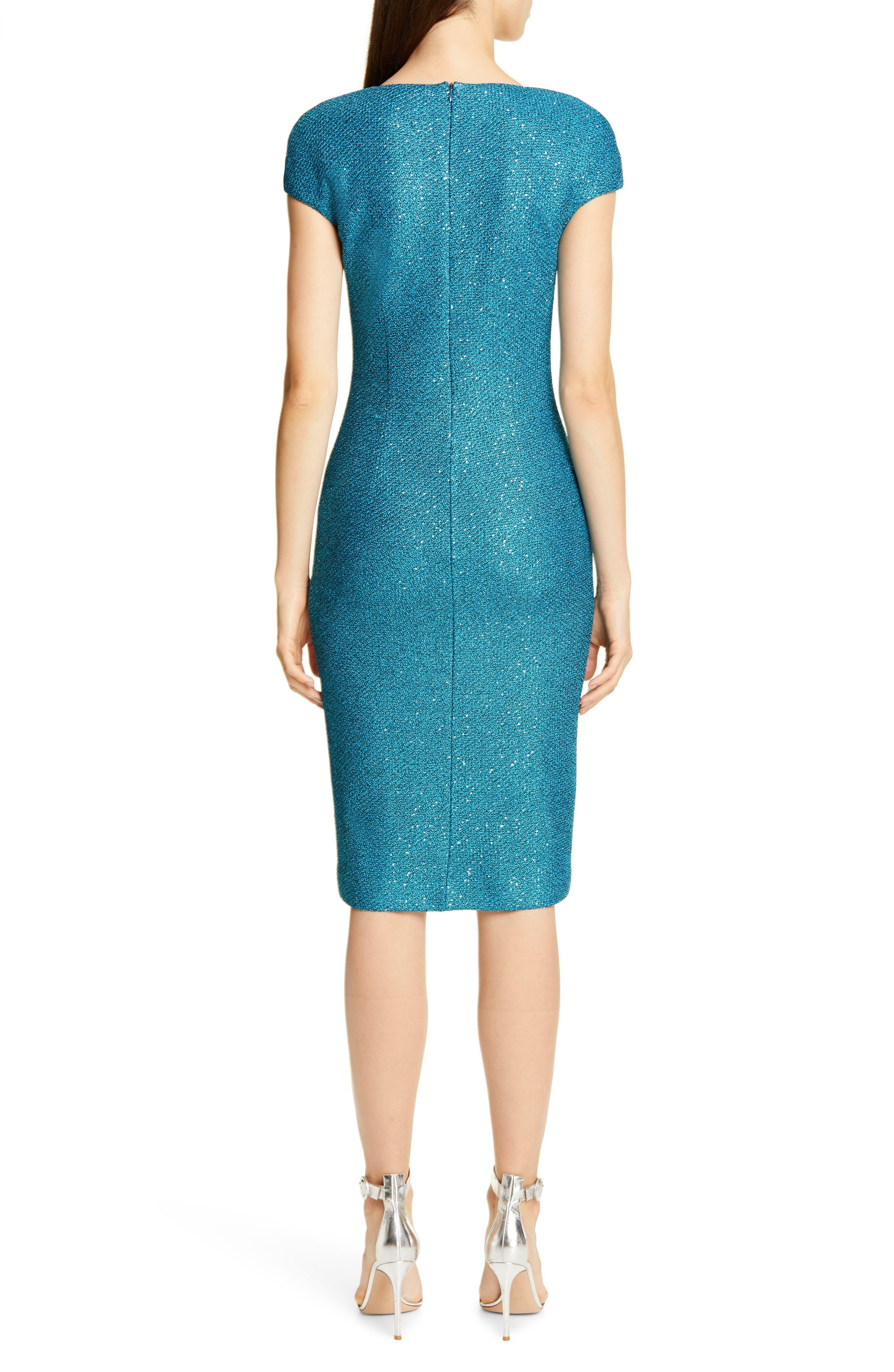 ,                             Luxe Sequin Tuck Knit Dress,                             Alternate thumbnail 2, color,                             TANZANITE MULTI