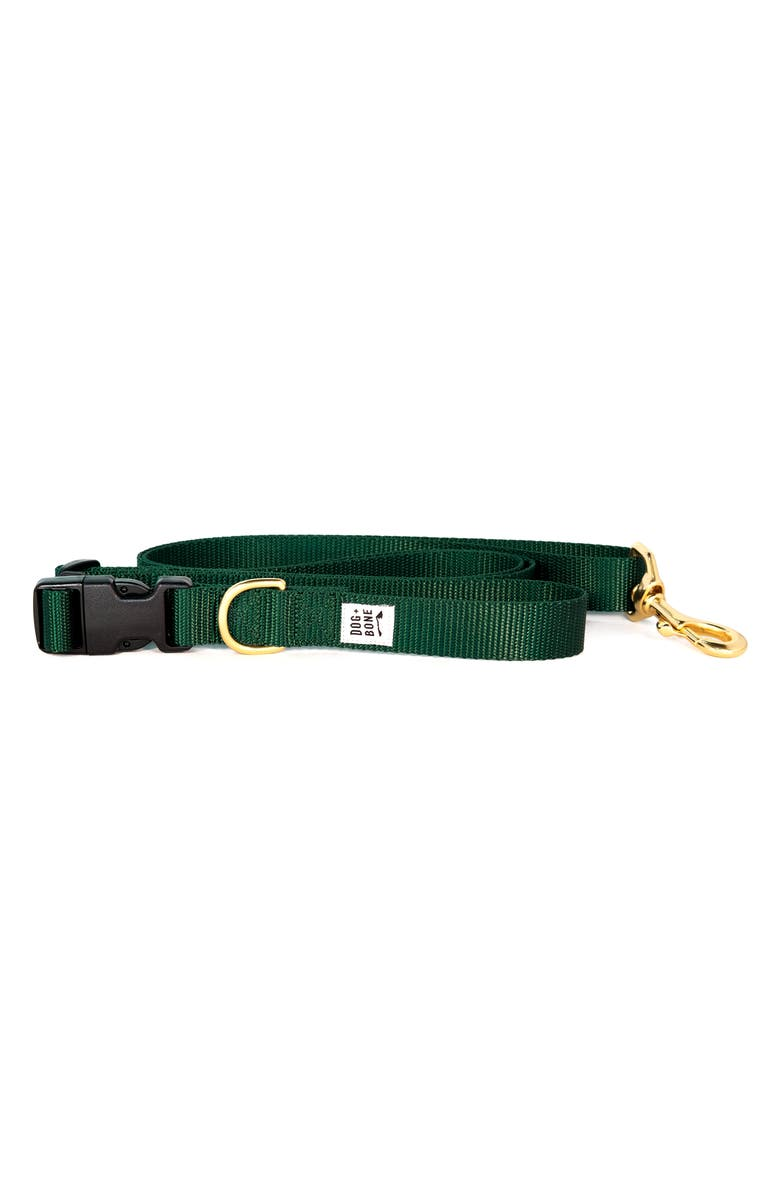 DOG PLUS BONE Dog + Bone Adjustable Leash, Main, color, FOREST