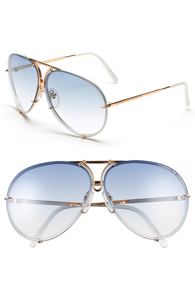 bfbb3697eb45 Porsche Design P8478 66mm Aviator Sunglasses | Nordstrom