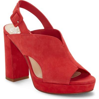 Vince Camuto Jeangel Platform Sandal, Red