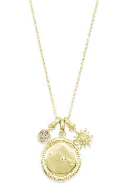 Image of Kendra Scott 14K Gold Plated Aries Charm Necklace