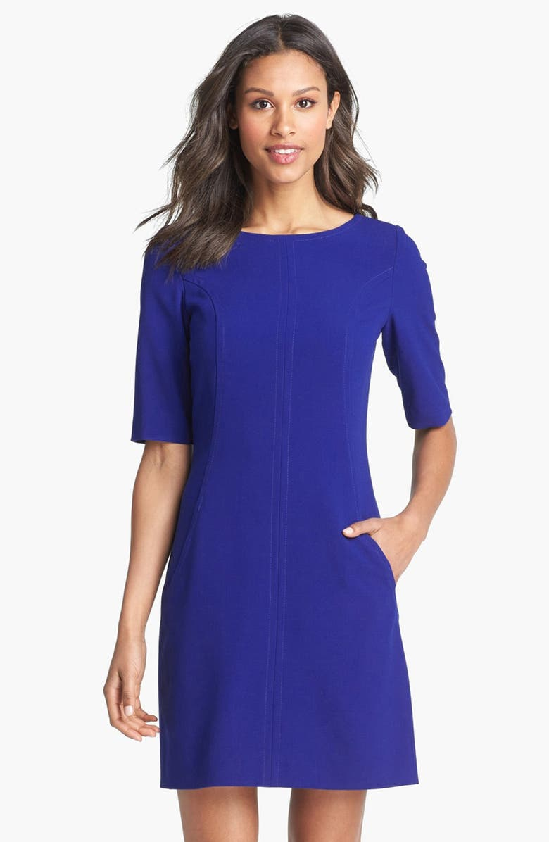TAHARI Seamed A-Line Dress, Main, color, 401