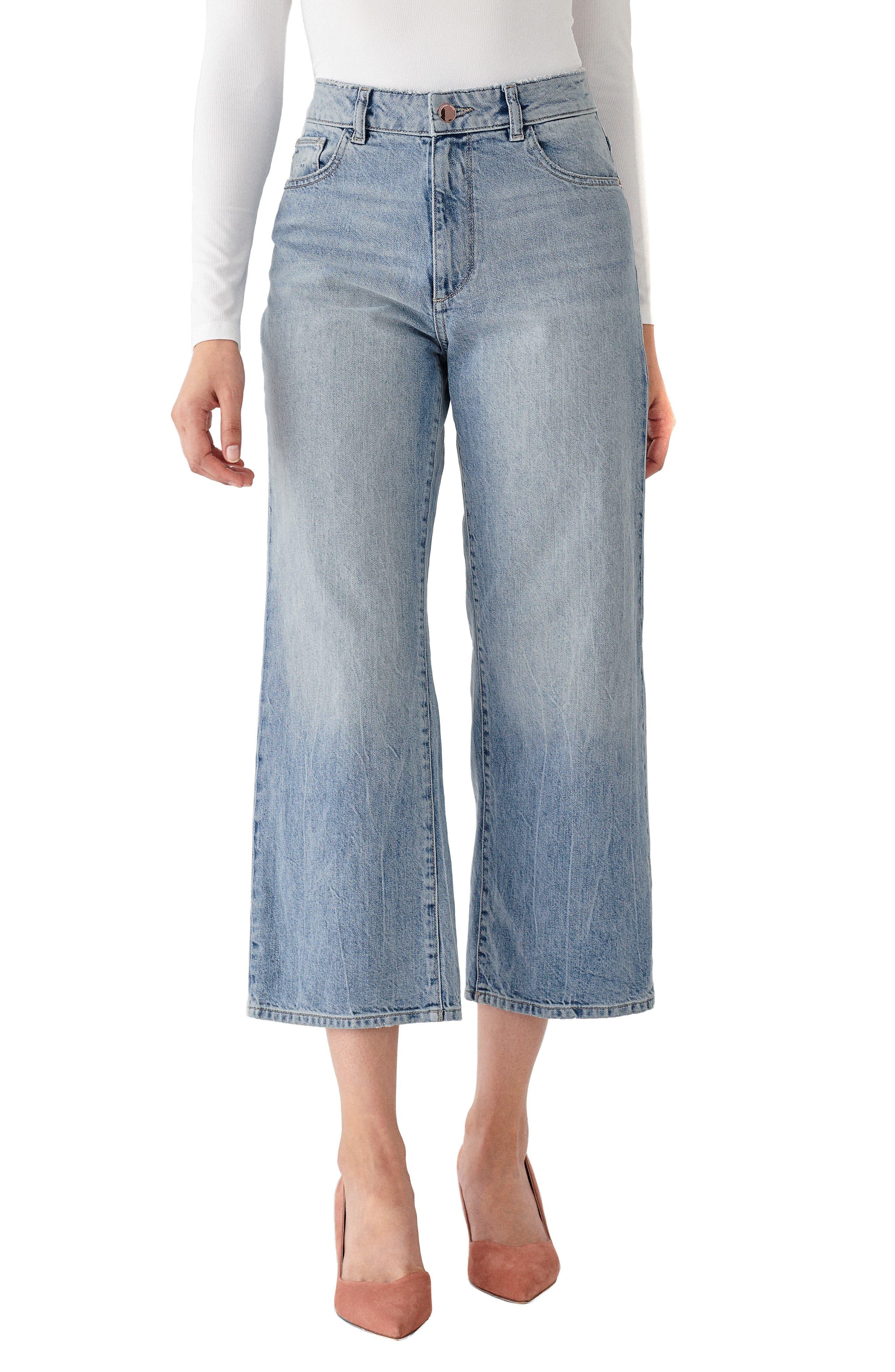 1961 X Marianna Hewitt Hepburn High Waist Crop Wide Leg Jeans