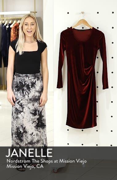 Ruched Velvet Body-Con Dress, sales video thumbnail