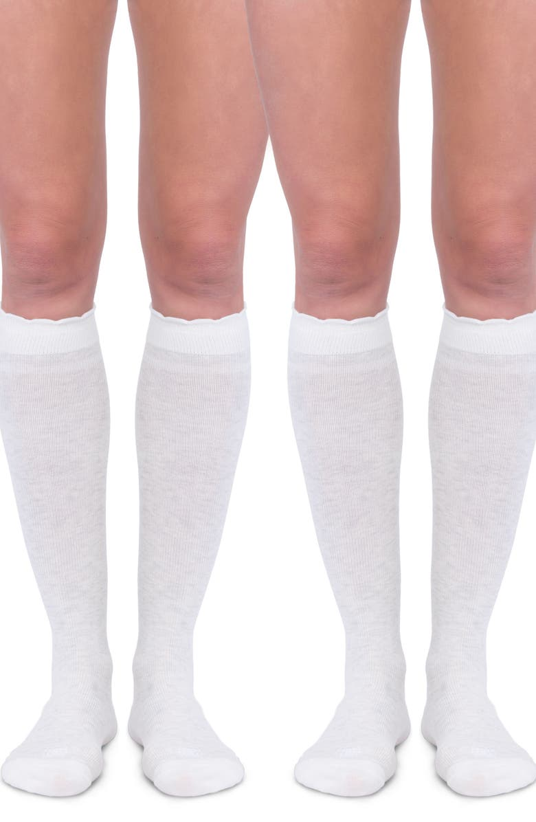 BELLY BANDIT<SUP>®</SUP> 2-Pack Compression Socks, Main, color, DOVE WHITE