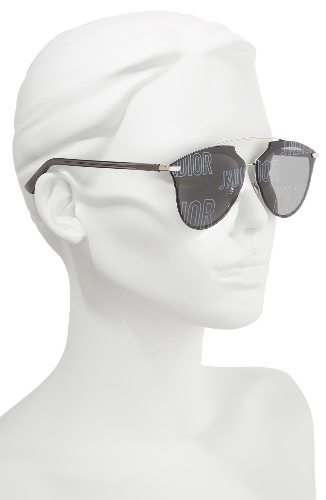 ,                             Reflected Prism 63mm Oversize Mirrored Brow Bar Sunglasses,                             Alternate thumbnail 2, color,                             047
