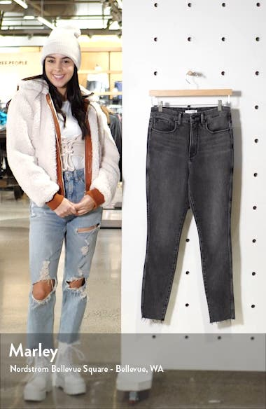 Good Curve High Waist Raw Edge Ankle Skinny Jeans, sales video thumbnail