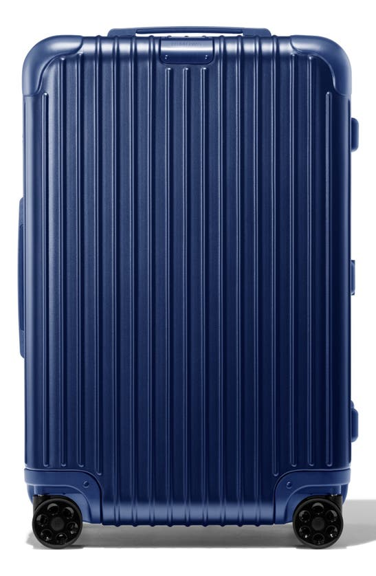 Rimowa Essential Check-in Medium 26-inch Wheeled Suitcase In Matte Blue