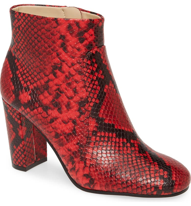 VINCE CAMUTO Sanstan Bootie, Main, color, RAZZ RED LEATHER