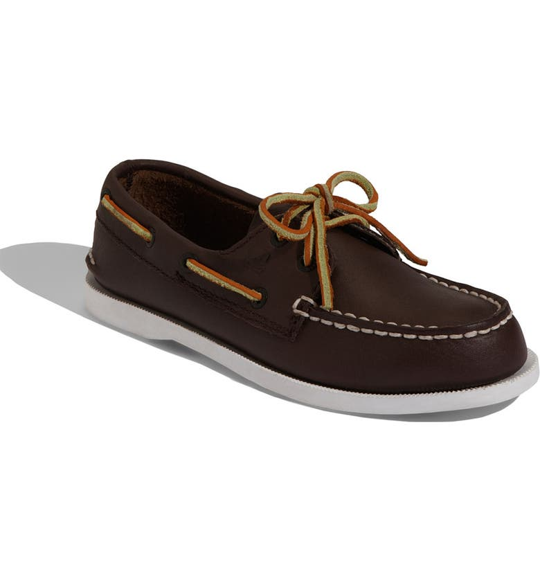 SPERRY KIDS 'Authentic Original' Boat Shoe, Main, color, BROWN LEATHER