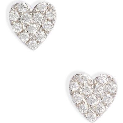 Bony Levy Mika Love Heart Shaped Diamond Earrings (Nordstrom Exclusive)