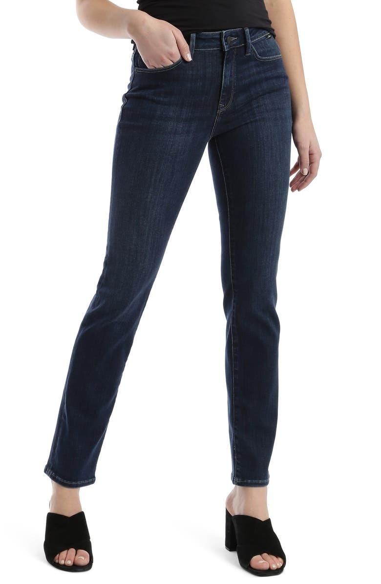 MAVI JEANS Kendra Supersoft High Waist Jeans, Main, color, DARK BLUE SUPERSOFT