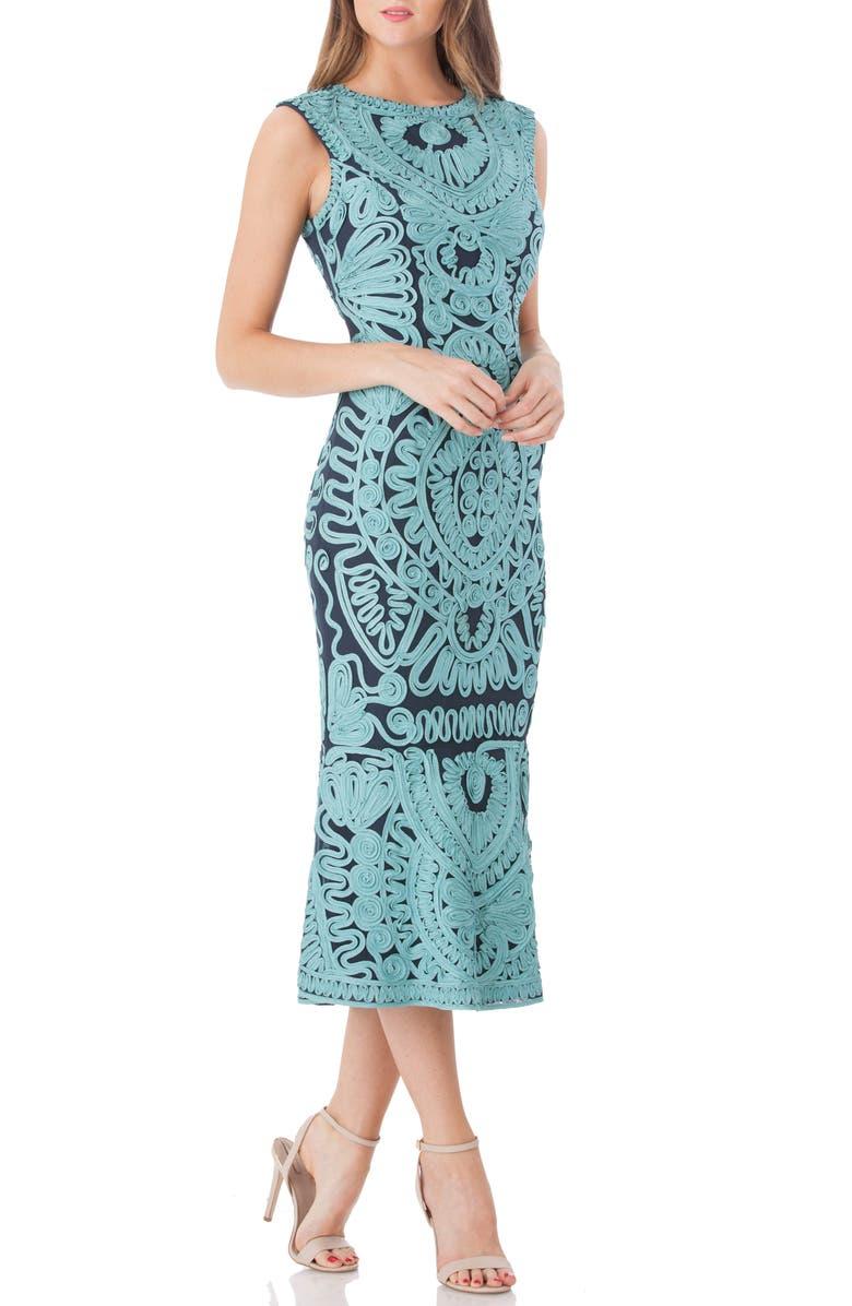 JS COLLECTIONS Soutache Mesh Dress, Main, color, 338