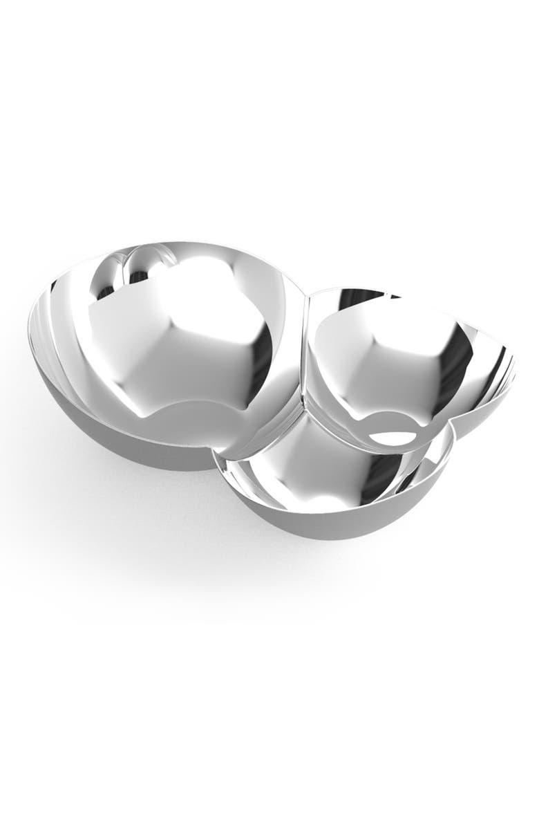 NAMBÉ Pulse Chip & Dip Bowl, Main, color, METALLIC SILVER