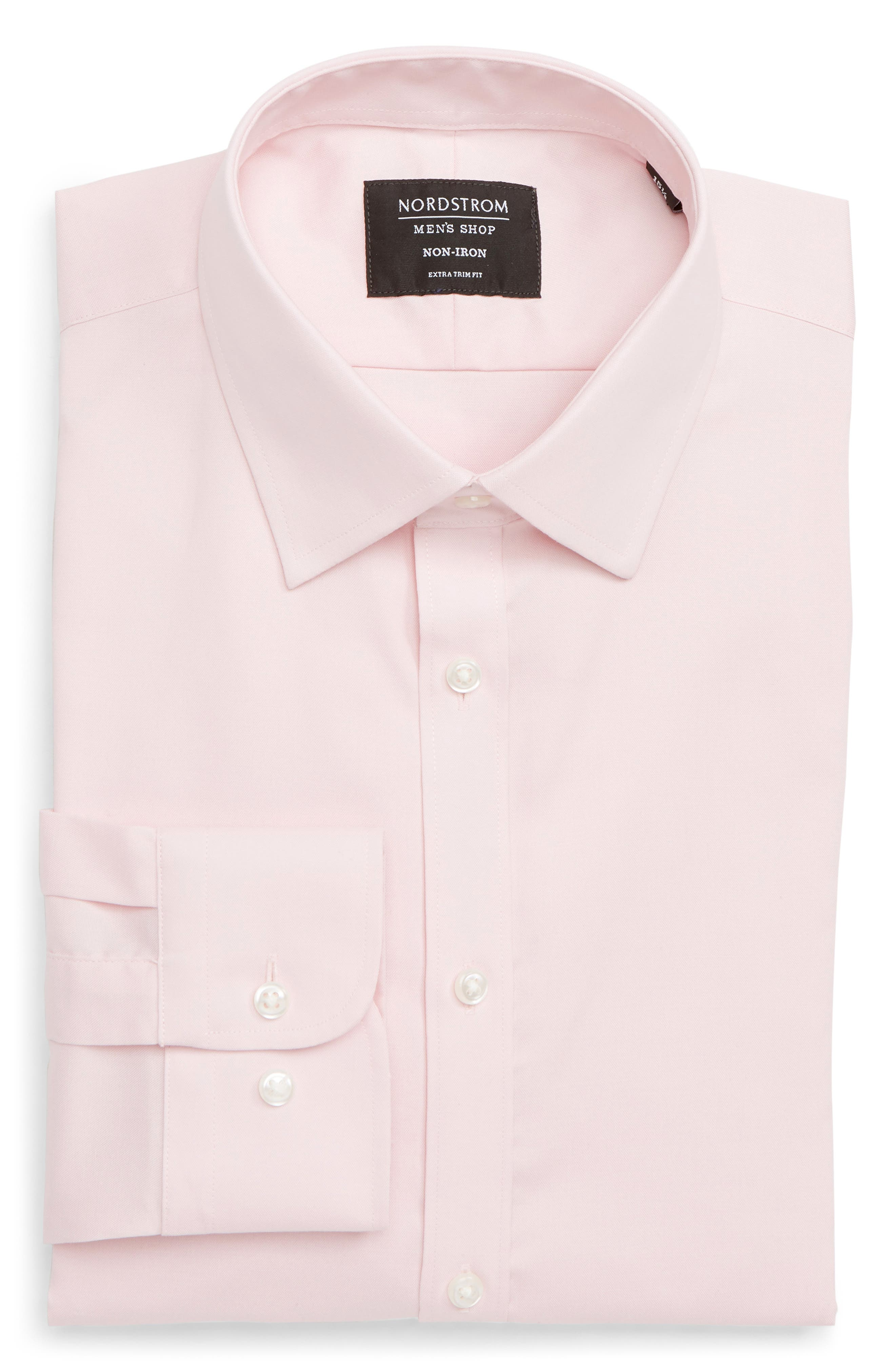 ,                             Extra Trim Fit Non-Iron Solid Dress Shirt,                             Alternate thumbnail 47, color,                             660