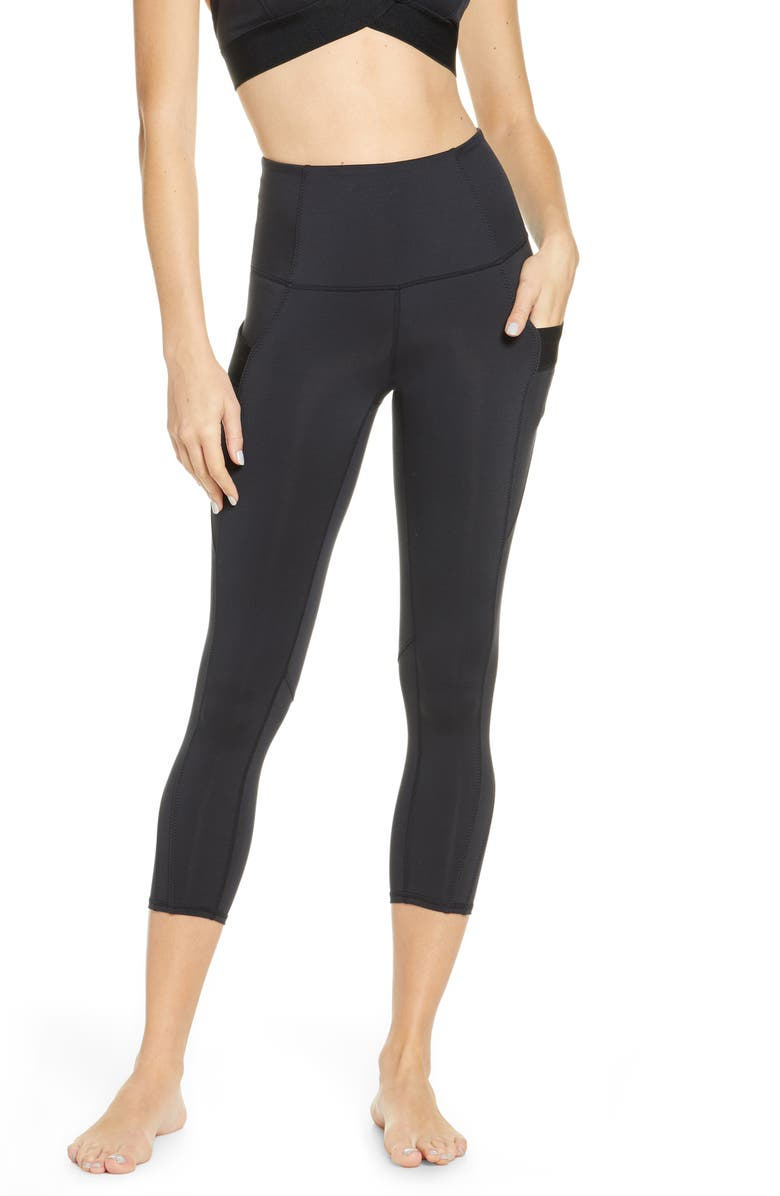 FREE PEOPLE FP MOVEMENT End Game High Waist Leggings, Main, color, BLACK