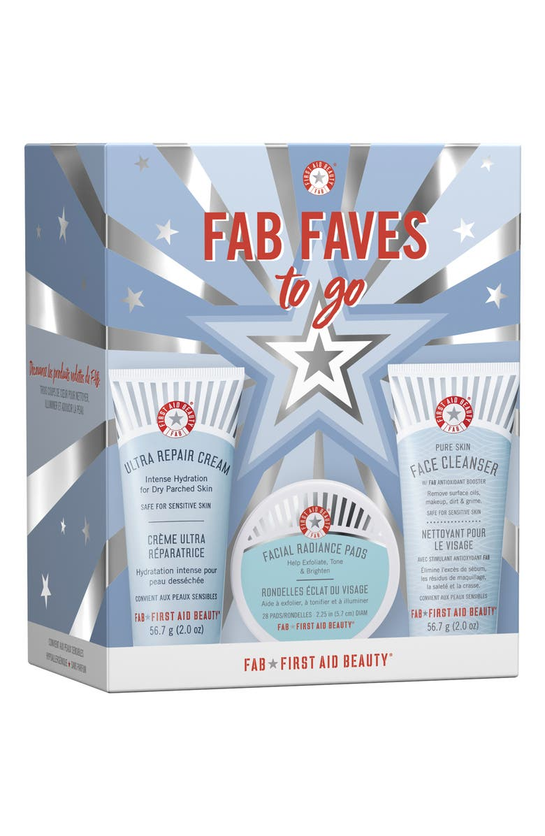 FIRST AID BEAUTY FAB Faces To-Go Set, Main, color, NO COLOR