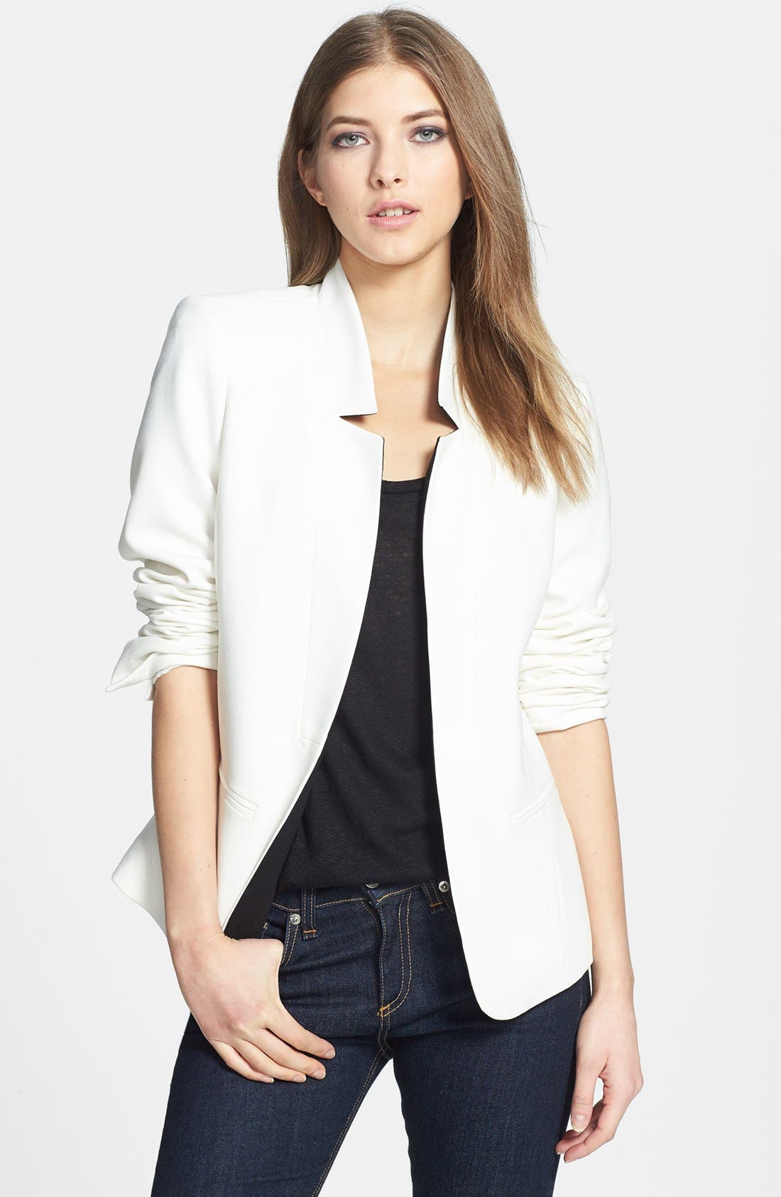 Reverse Lapel Blazer, Main, color, 100