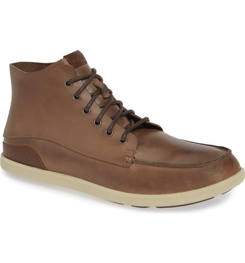 OLUKAI Nalukai Boot, Main, color, HUSK/ SILT LEATHER