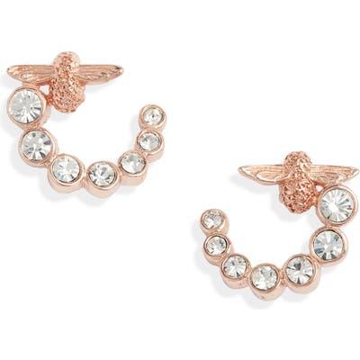 Olivia Burton Bejeweled Bee Hoop Earrings