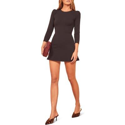 Reformation Trina A-Line Mini Dress, Black