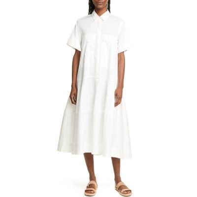 Lee Mathews Elsie Poplin Midi Shirtdress, (fits like 8-10 US) - Beige