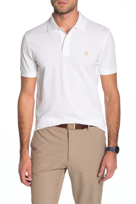 Image of Brooks Brothers Solid Pique Slim Fit Polo