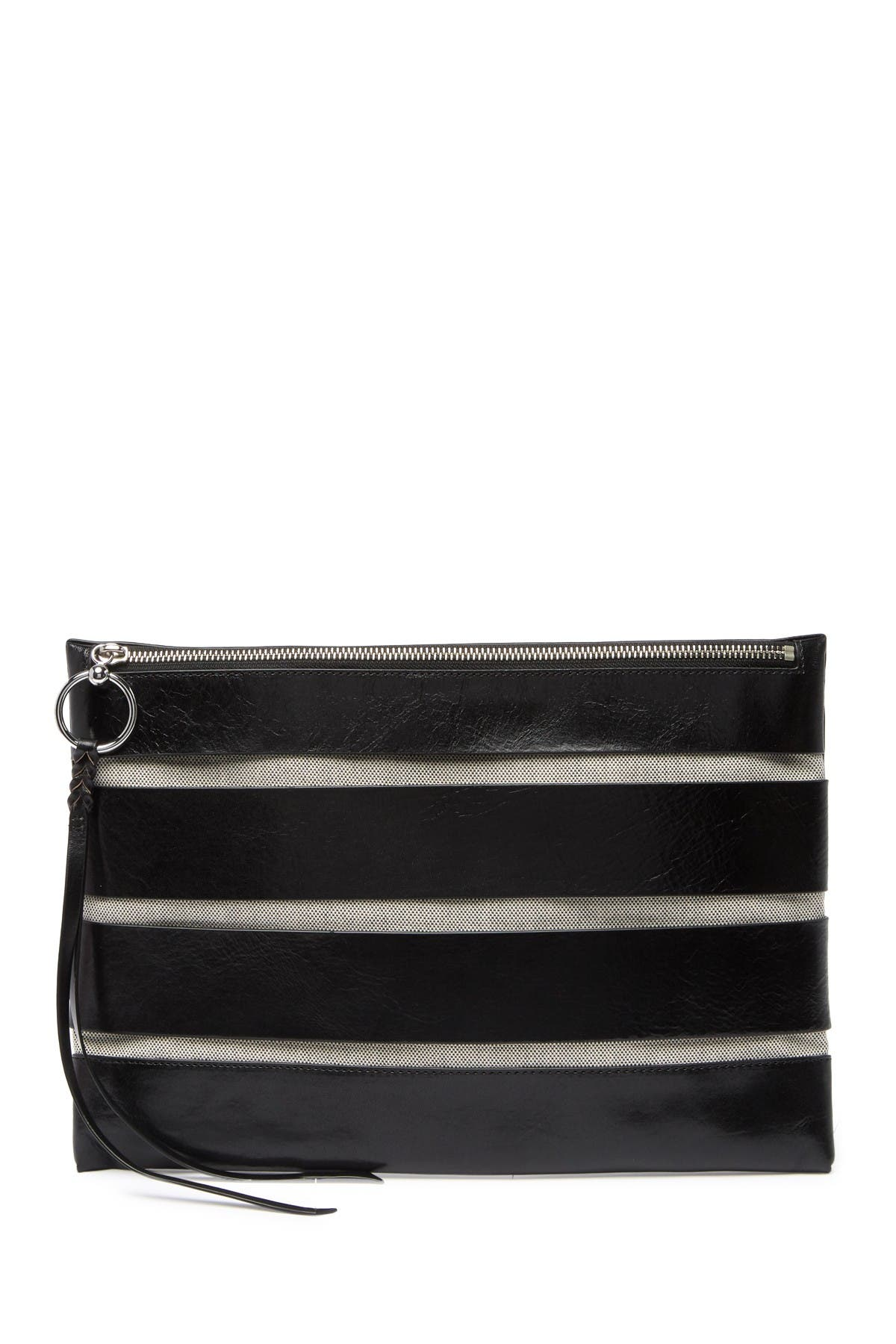 Image of Rebecca Minkoff Cage Leather Clutch
