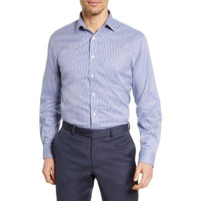 Nordstrom Shop Smartcare(TM) Traditional Fit Check Dress Shirt - Blue