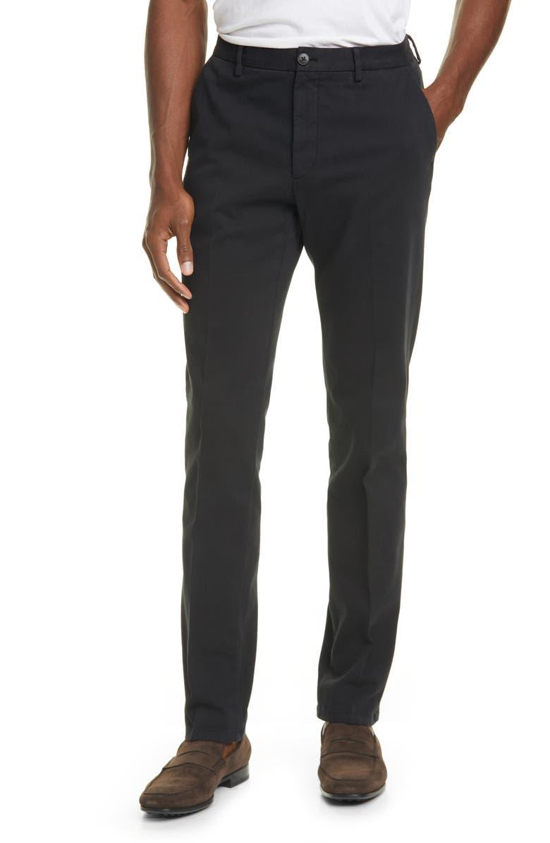Z ZEGNA Stretch Cotton Denim Pants, Main, color, 001