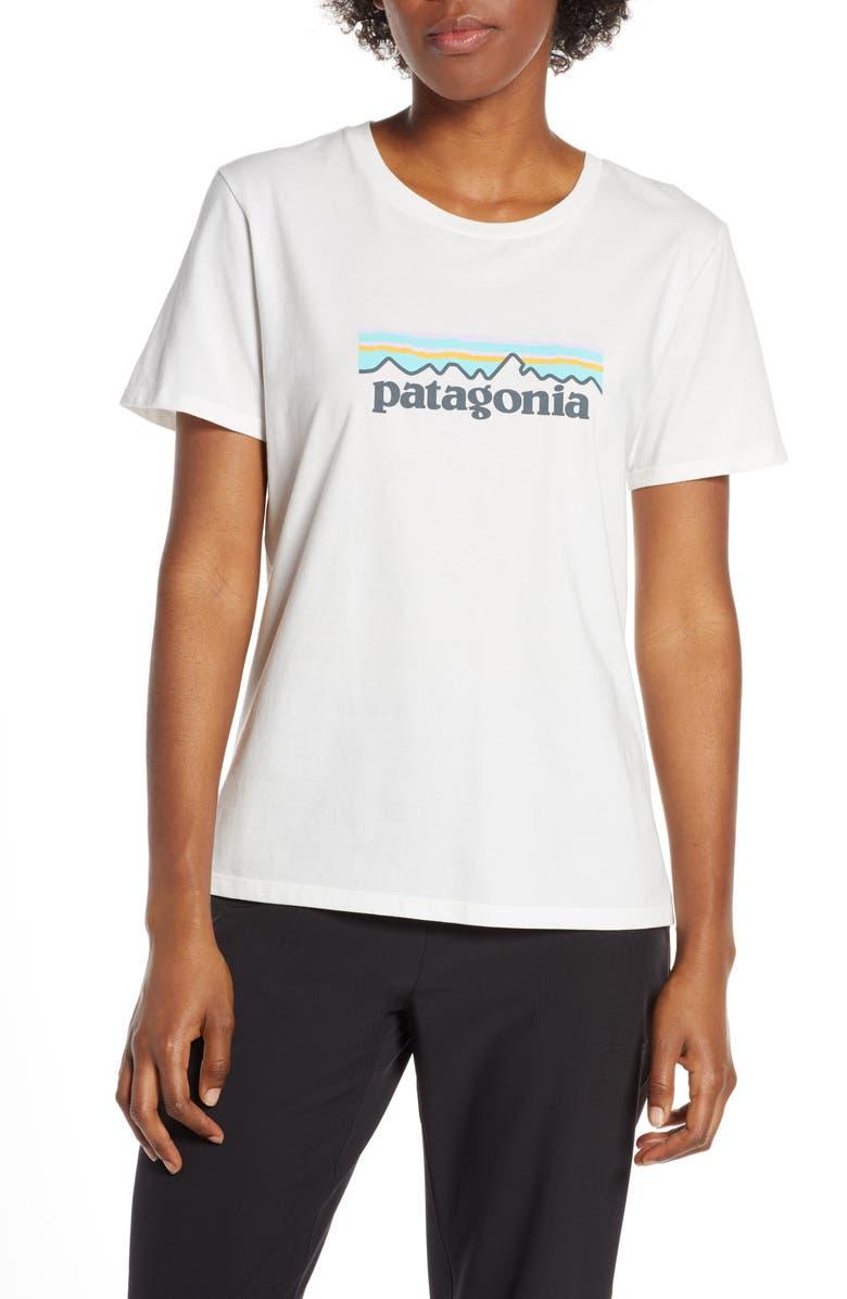 PATAGONIA P-6 Logo Tee, Main, color, 100