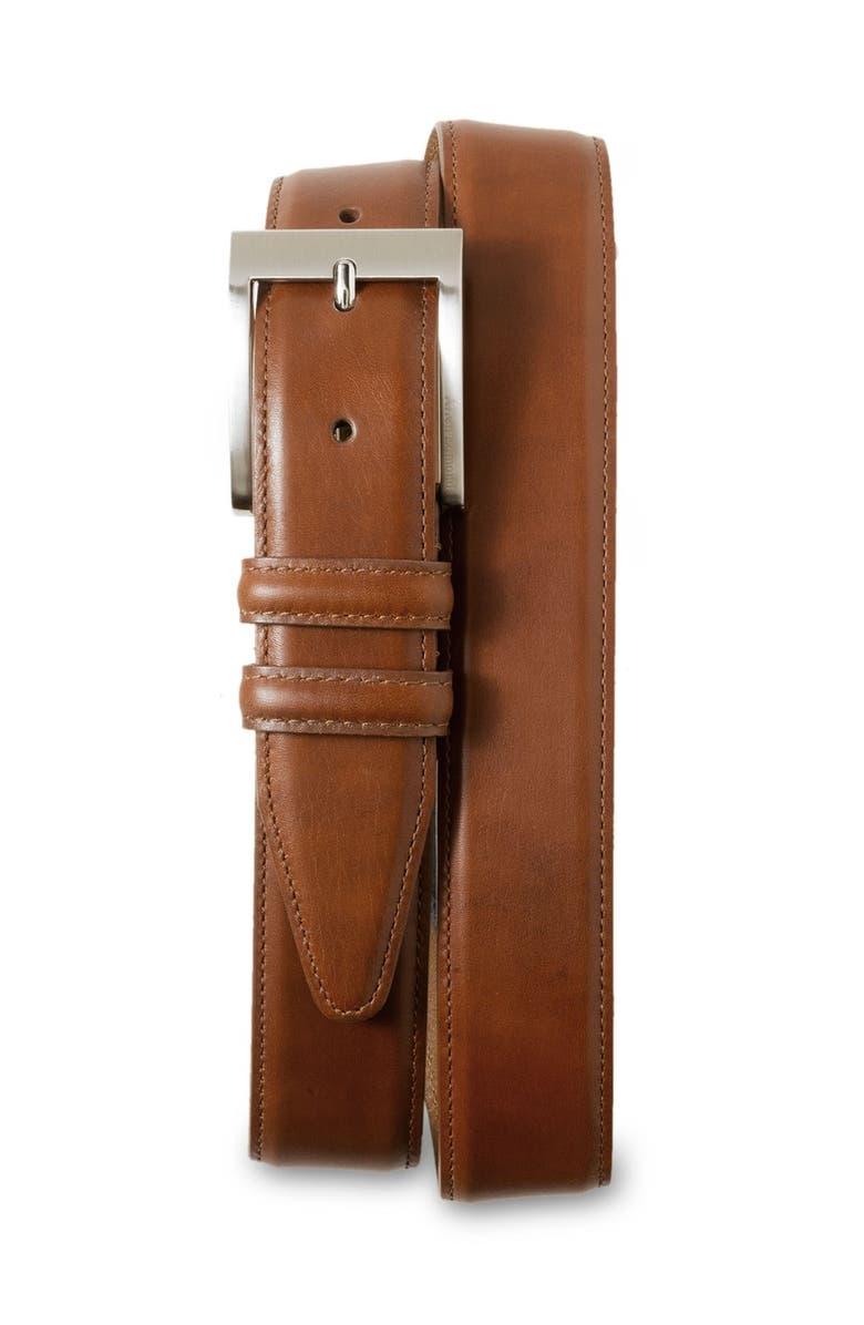 ALLEN EDMONDS Classic Wide Belt, Main, color, WALNUT