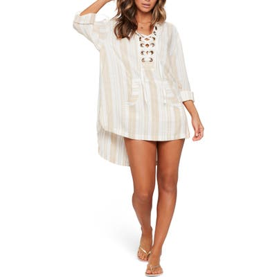 L Space Love Letters Cover-Up Tunic, Ivory